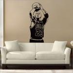 สติกเกอร์ติดผนัง Michael Jordan Basketball Shoot Wall Sticker