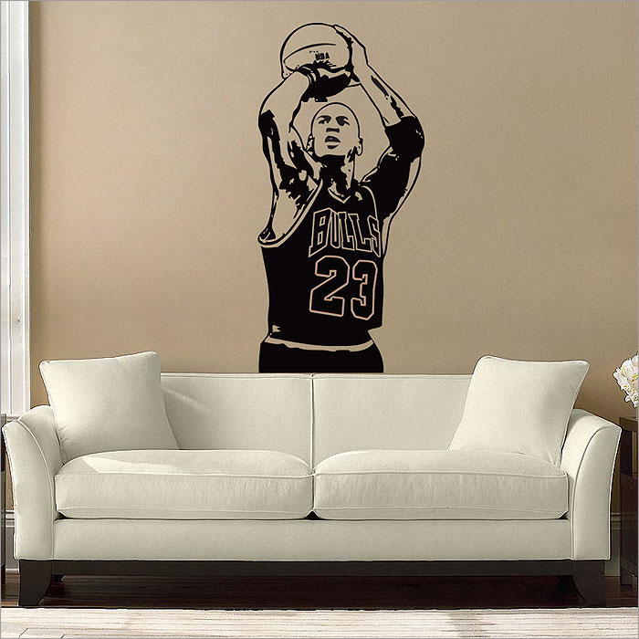 Great Michael Jordan Basketball Shoot Vinyl Wall Art Decal (WD 0394) Part 25