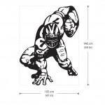 สติกเกอร์ติดผนัง American Football Wall Sticker