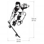สติกเกอร์ติดผนังSkateboard Grab Trick / Wall Sticker