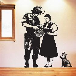 สติกเกอร์ติดผนังBanksy Dorothy Police Search / Wall Sticker (WD-0413)
