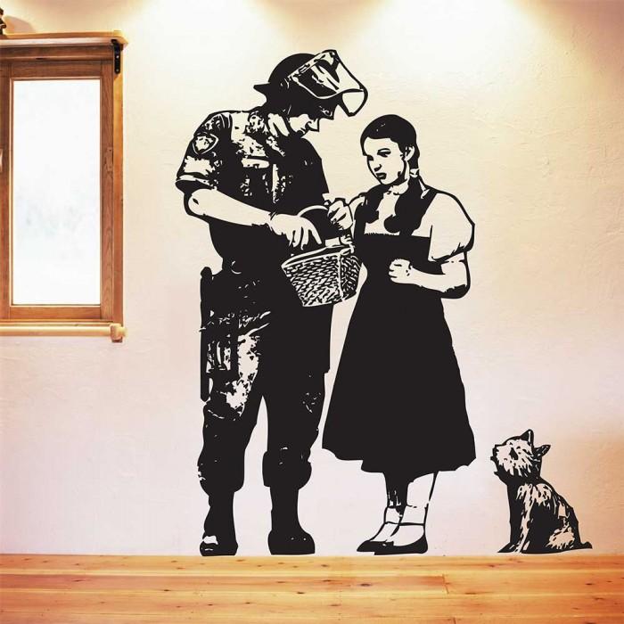 Banksy Dorothy Police Search Vinyl Wall Art Decal