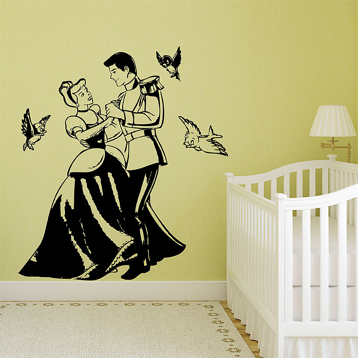 and Prince Charming Vinyl Wall Art Decal