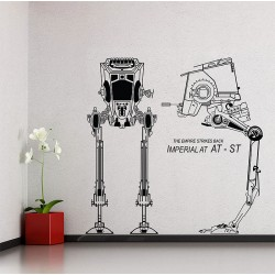 Imperial AT-ST Star Wars Vinyl Wall Art Decal (WD-0417)