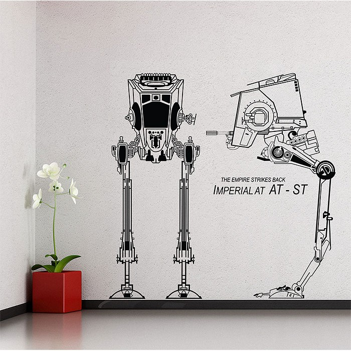 Tattoo Wall Art at-st star wars vinyl wall art decal