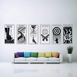 สติกเกอร์ติดผนัง The Avengers Wall Sticker (WD-0421A)