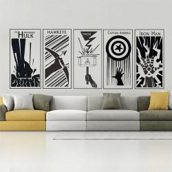สติกเกอร์ติดผนัง The Avengers Wall Sticker (WD-0421B)