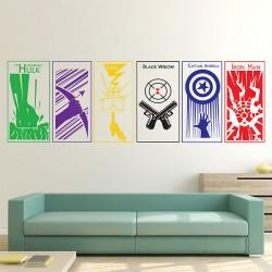 สติกเกอร์ติดผนัง The Avengers Wall Sticker (WD-0421C)