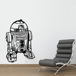 R2D2 Star Wars Vinyl Wall Art Decal (WD-0434)