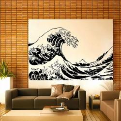 สติกเกอร์ติดผนัง Fuji The Great Wave at Kanagawa Wall Sticker (WD-0435)