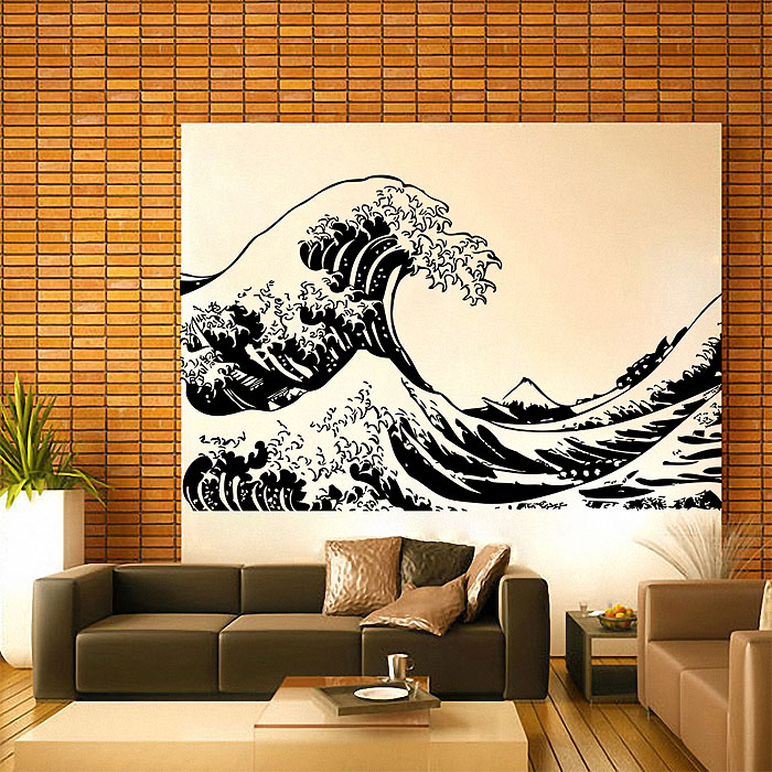 fuji the great wave at kanagawa vinyl wall art decal