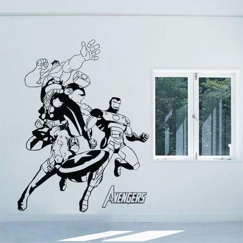 สติกเกอร์ติดผนัง The Avengers Wall Sticker