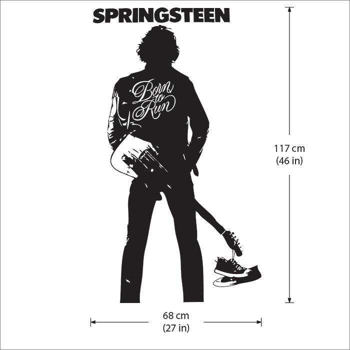 Bruce Springsteen Born To Run Vinyl Wall Art Decal