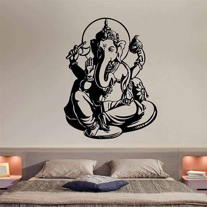 god ganesha vinyl wall art decal