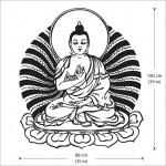 สติกเกอร์ติดผนัง Buddha God Wall Sticker
