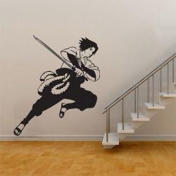สติกเกอร์ติดผนัง Sasuke Uchiha from Naruto Anime Wall Sticker (WD-0460)