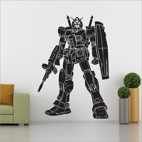 สติกเกอร์ติดผนัง Gundam Robot Wall Sticker