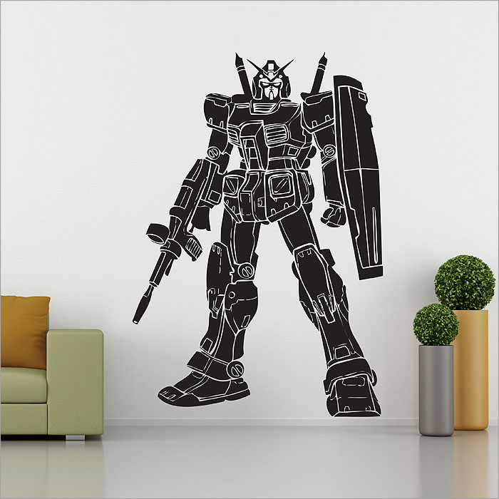 gundam robot vinyl wall art decal