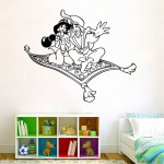 Aladdin and Princess Jasmine Vinyl Wall Art Decal