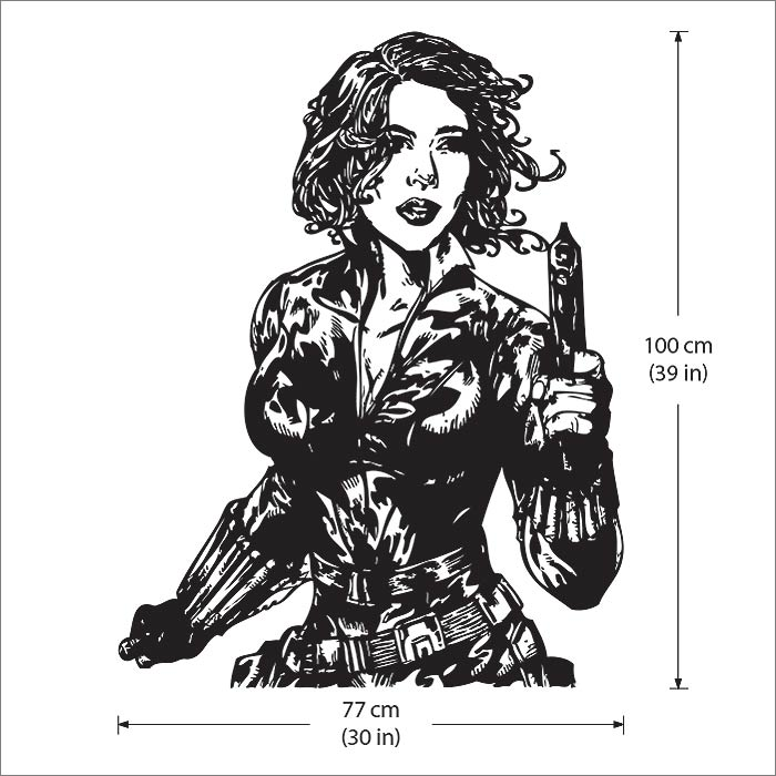 Black Widow From The Avengers Vinyl Wall Art Decal Wd 0465