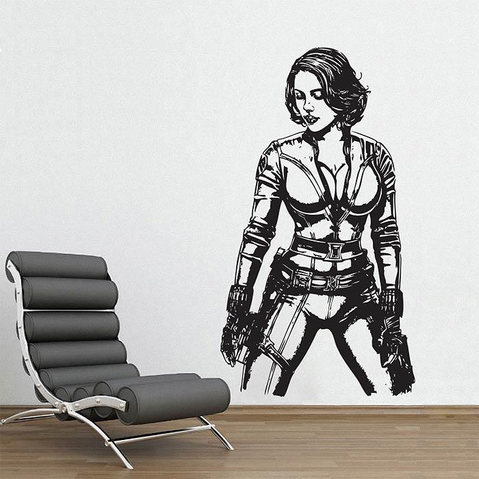 sc 1 st  Art2Click & Black Widow from The Avengers Vinyl Wall Art Decal