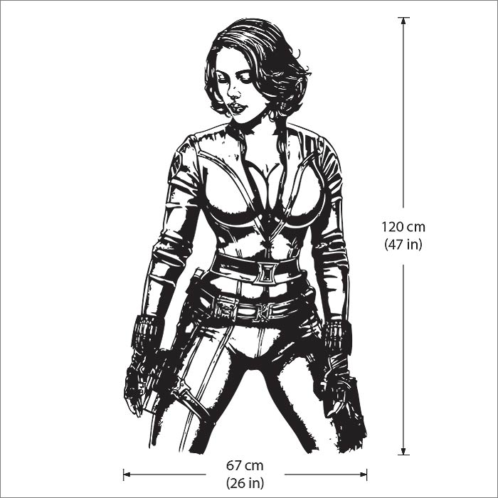 Black Widow From The Avengers Vinyl Wall Art Decal Wd 0466