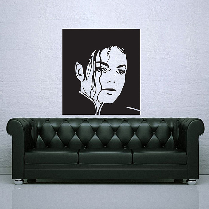 Michael jackson king of pop vinyl wall art decal for Pop wall art