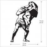 สติกเกอร์ติดผนัง Muay thai Boxing Wall Sticker