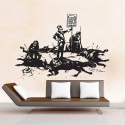 สติกเกอร์ติดผนัง Banksy Luxury Loft Wall Sticker (WD-0475)