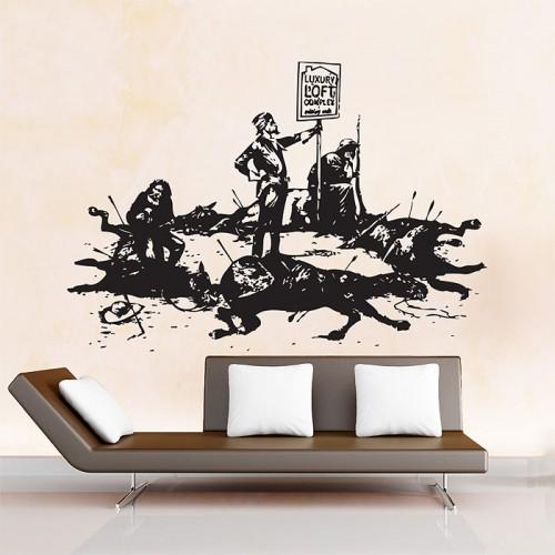 สติกเกอร์ติดผนัง Banksy Luxury Loft Wall Sticker
