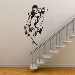 สติกเกอร์ติดผนัง Skateboard Grab Triks Wall Sticker (WD-0479)
