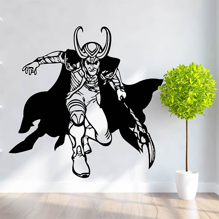 Avengers Loki Vinyl Wall Art Decal - Vinyl wall decals avengers