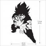 สติกเกอร์ติดผนัง Goku Kamehameha Dragon Ball Wall Sticker