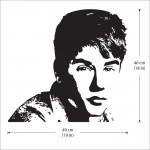 สติกเกอร์ติดผนัง Justin Bieber Wall Sticker
