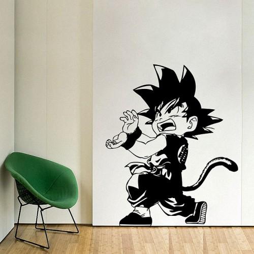 สติกเกอร์ติดผนัง Goku Kamehameh Dragon Ball Wall Sticker