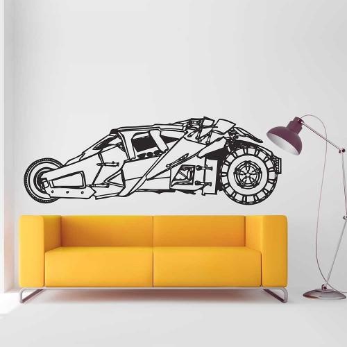 สติกเกอร์ติดผนัง Tumbler Batmobile Batman / Wall Sticker