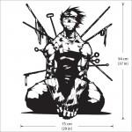 สติกเกอร์ติดผนัง Naruto Anime Zabuza Momochi Wall Sticker