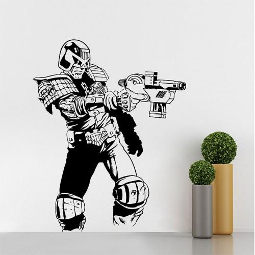 สติกเกอร์ติดผนัง Judge Dredd  Wall Sticker