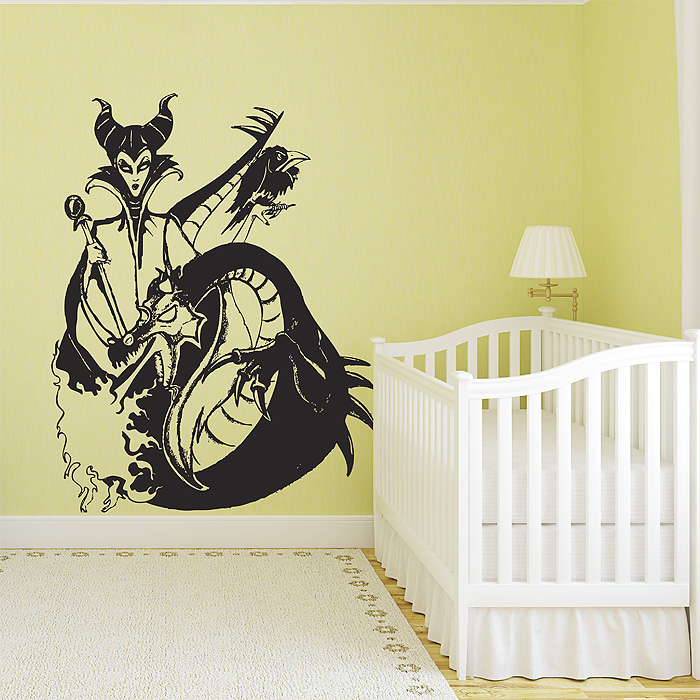 And Dragon Vinyl Wall Art Decal - Custom vinyl wall decals dragon