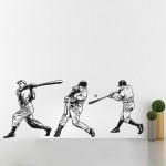 สติกเกอร์ติดผนัง Baseball Character 2 Sport Wall Sticker
