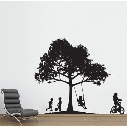 Backyard Fun Vinyl Wall Art Decal (WD-0528)