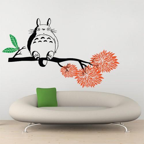 สติกเกอร์ติดผนัง My Neighbor Totoro on tree branch Wall Sticker