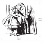 Alice finding tiny door Vinyl Wall Art Decal