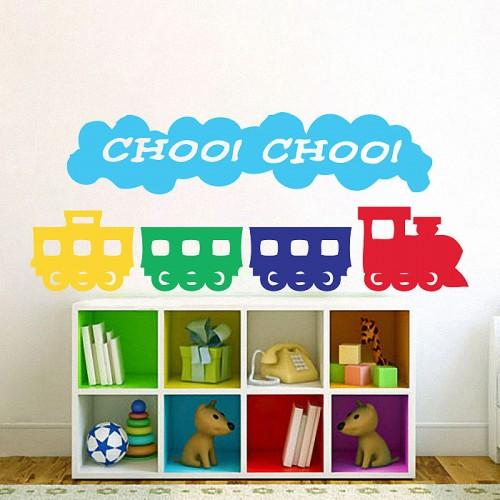 สติกเกอร์ติดผนัง Choo Choo Train Kids Wall Sticker