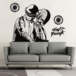 สติกเกอร์ติดผนัง DJ Daft Punk Wall Sticker (WD-0539)