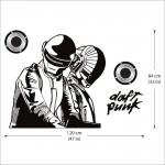 สติกเกอร์ติดผนัง DJ Daft Punk Wall Sticker