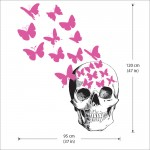 Skull And Butterfly Vinyl Wall Art Decal