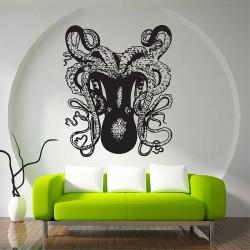 สติกเกอร์ติดผนัง ปลาหมึกยัก Octopus Wall Sticker (WD-0545)