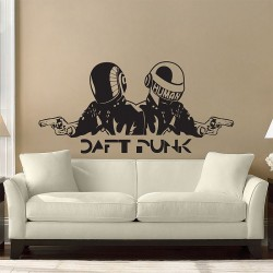 สติกเกอร์ติดผนัง  DJ Daft Punk  Wall Sticker (WD-0548)