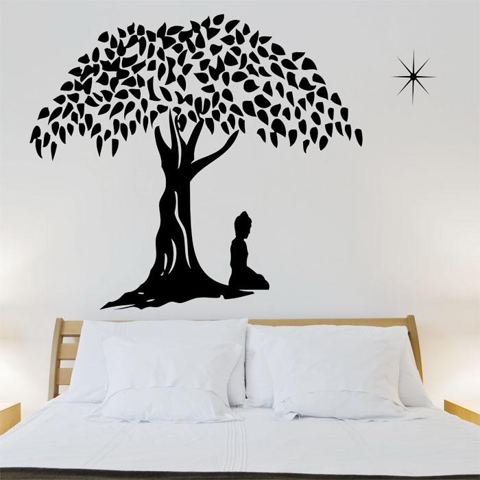 buddha in meditation vinyl wall art decal